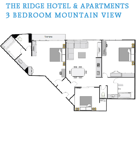 3 Bedroom Mountain Floor Plan